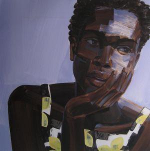 3. Untitled Head #12, acrylic on mylar, 18x18, $1800, 2014