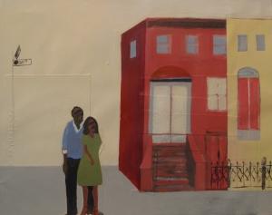 Harlem, acrylic on paper, 18x24, $2800, 2006