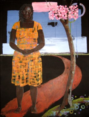 10. Untitled (Woman and Cherry Tree), acrylic on paper, 30x23, 2007, $2800 - breda