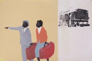 3. Morning Rush (study), acrylic on paper, 12x18, $2200, 2005