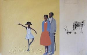 4. Opening Night (study) #2, silkscreen & acrylic on paper, 12x18, $2200, 2005