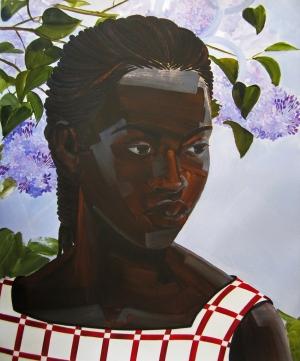 5. Untitled (First Love, women), acrylic on mylar, 40x33, $4200, 2014