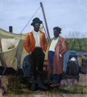 5. Untitled (Salt, Couple), acrylic on mylar, 45.5x40, 2013, $4500