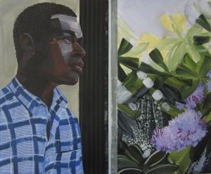 6. Greg Breda, Untitled (Man at Window) 25_X30_, acrylic on mylar, 2015