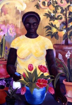 9. Nurture, acrylic on canvas, 36x48, 2004, $4500 - breda