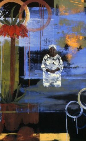 Baptism, acrylic on paper, 30x23, 2005, $2500 - breda
