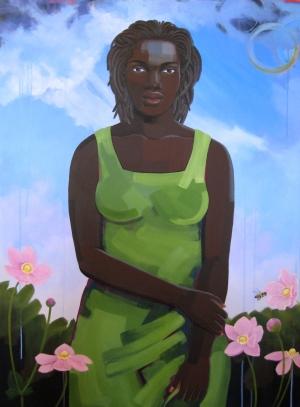 Expectation (Seed series), acrylic on canvas, 36x48, 2008, $4500 - breda