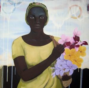 Flourish (Seed series), acrylic on canvas, 30x30, 2008, $3500 - breda