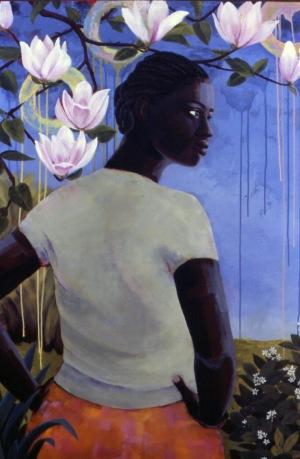 Magnolia, acrylic on canvas, 48x36, 2005, $4200 - breda