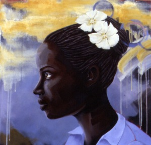 Rose of Sharon, acrylic on canvas, 24x24, 2005, $3000 - breda