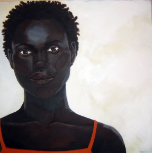 Untitled (head #1), acrylic on canvas, 30x23, 2004, $1000 - breda