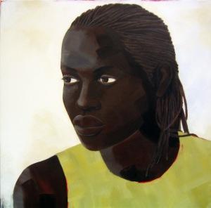 Untitled (head #2), acrylic on canvas, 30x23, 2005, $1000 - breda