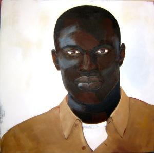 Untitled (head #3), acrylic on canvas, 30x23, 2005, $1000 - breda