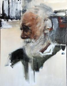 3. Wisdom Took Time, oil on wood, 24x18, 2015, $2000