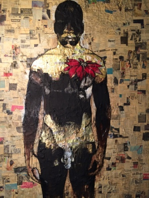 4. Brooklyn Bed-Stuy Dandy, acrylic:mixed media on canvas, 72x54, 2012, $13,500