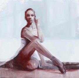 Misty, oil on wood, 36x36, 2015