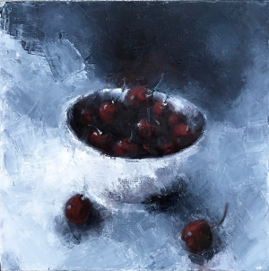 2. Dark Cherry, oil on canvas, 12x12, 2017