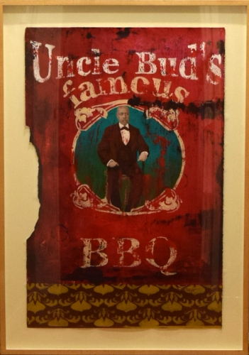 Cedric Smith, Uncle Bud's BBQ, acrylic on paper, 25x40, 2004