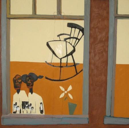 Francks François Deceus, Grand Ma's Room II (Everyday People Series), mixed media on canvas, 40x40, 2000