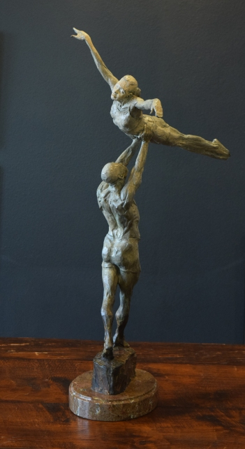 John Brown, Exaltation, quarter life, bronze, 33.75 inches, 2004