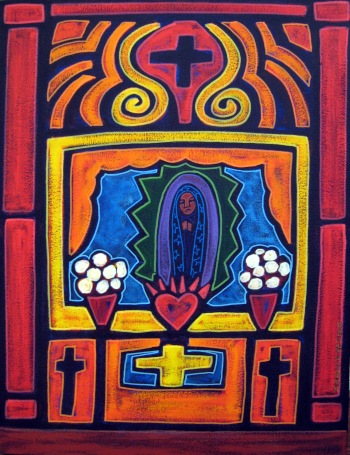 Jose Ramirez, Altar, acrylic and mixed media on canvas, 23x30, 2000