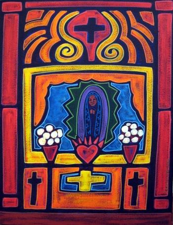 Jose Ramirez, Altar, acrylic and mixed media on canvas, 23x30, 2000