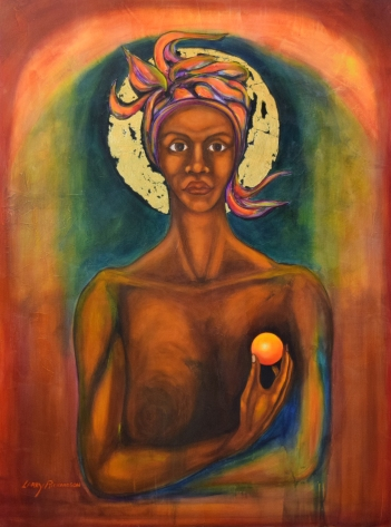 Larry Richardson, Femella Icon #1, acrylic on canvas, 36x48, 2002