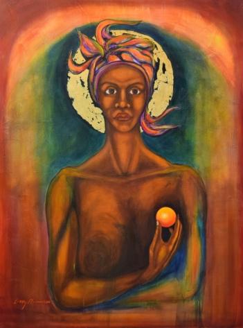 Larry Richardson, Femella Icon #1, acrylic on canvas, 36x48, 2002