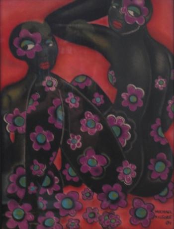 Michael Kilgore, Nina & Simone, pastel on paper, 18x24, 2004