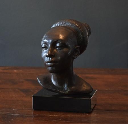 Richmond Barthé, Josephine Baker, bronze (recast 1986), 10.25x6x8.75, signed 1950