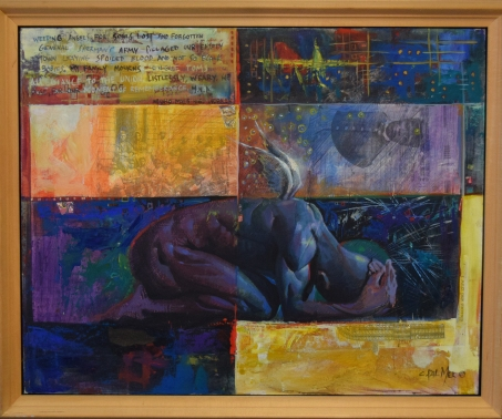 Charly Palmer, Souls Lost, acrylic & mixed media on canvas board, 30x24, 2001