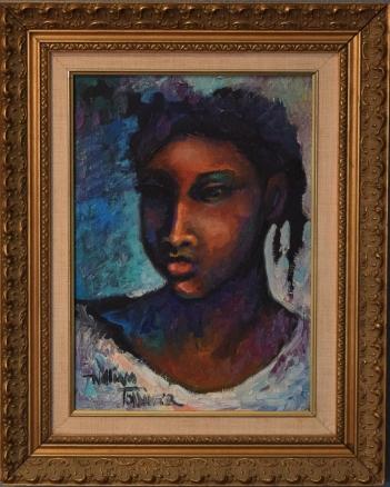 William Tolliver, Lil' Darlin, oil on canvas, 14x10, 1991